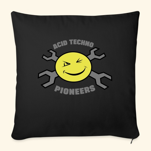 ACID TECHNO PIONEERS - SILVER EDITION - Sofa pillow with filling 45cm x 45cm