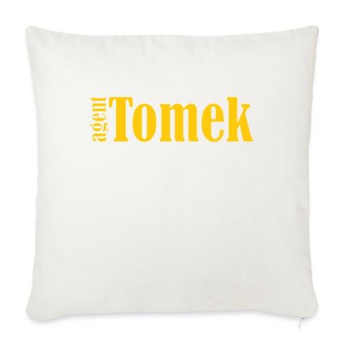 agent tomek YELLOW - Poduszka na kanapę z wkładem 44 x 44 cm