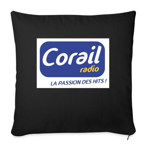 Logo bleu - Coussin et housse de 45 x 45 cm