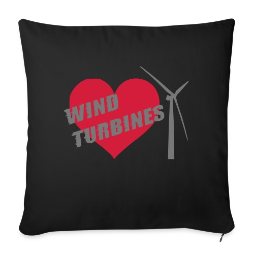 wind turbine grey - Sofa pillow with filling 45cm x 45cm