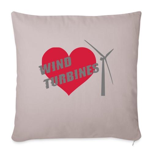 wind turbine grey - Sofa pillow with filling 45cm x 45cm