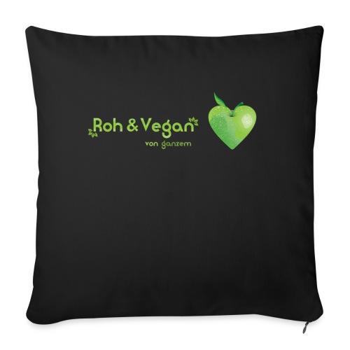 Roh & Vegan grünes Apfelherz (Rohkost) - Sofakissen mit Füllung 44 x 44 cm