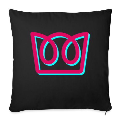 Neon Crown - Sofa pillow with filling 45cm x 45cm