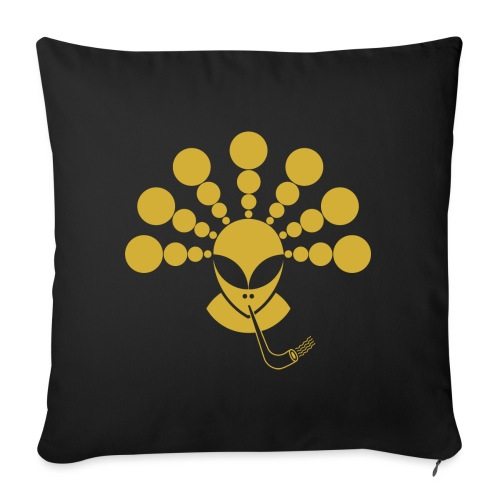The Gold Smoking Alien - Sofa pillow with filling 45cm x 45cm