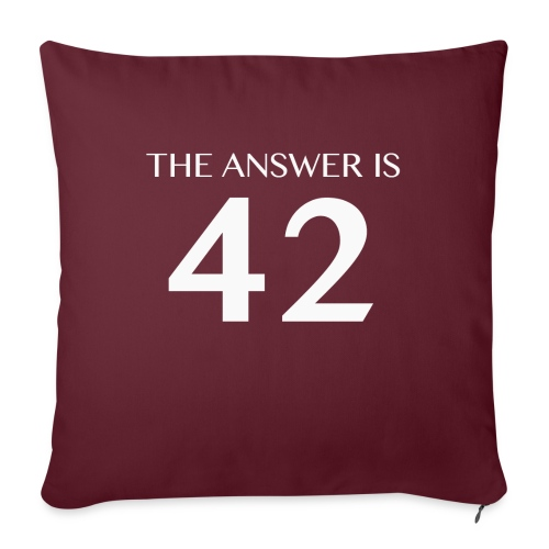 The Answer is 42 White - Sofa pillow with filling 45cm x 45cm