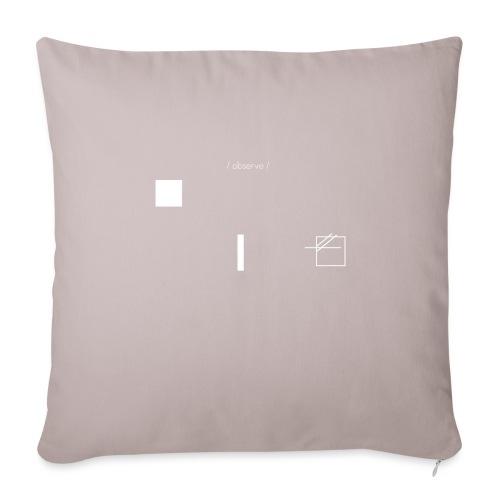 /obeserve/ sweater (M) - Sofapute med fylling 44 x 44 cm