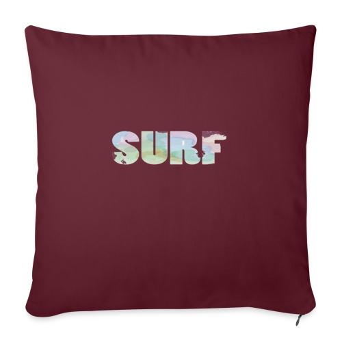 Surf summer beach T-shirt - Sofa pillow with filling 45cm x 45cm