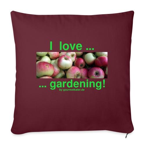 Äpfel - I love gardening! - Sofakissen mit Füllung 44 x 44 cm