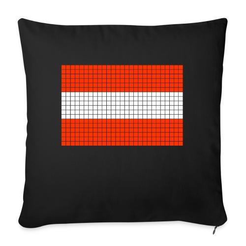 austrian flag - Cuscino da divano 44 x 44 cm con riempimento
