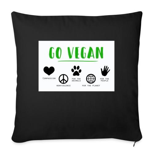 Go vegan - Coussin et housse de 45 x 45 cm