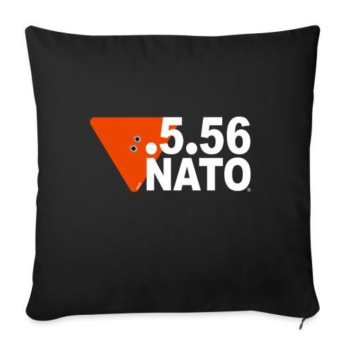 .5.56 NATO BLANC - Coussin et housse de 45 x 45 cm
