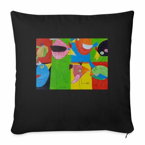 Lovebirds - Liebesvögel - Sofakissen mit Füllung 44 x 44 cm