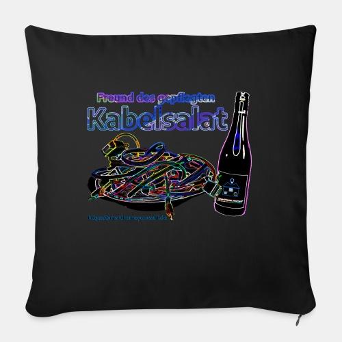 Freund des gepflegten Kabelsalat - Neon - Sofakissen mit Füllung 44 x 44 cm