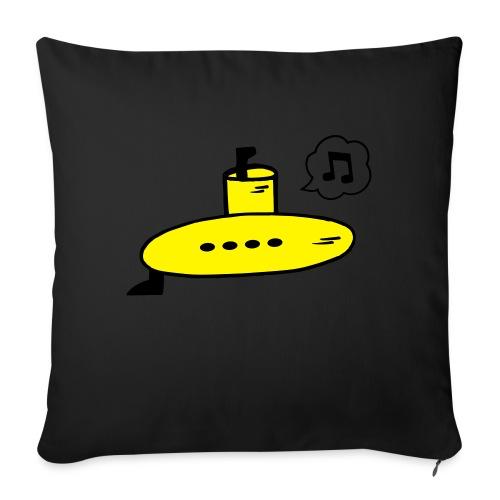 Singing Yellow Submarine - Sofa pillow with filling 45cm x 45cm