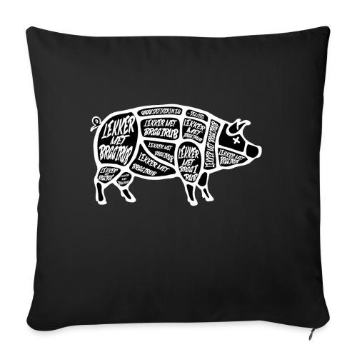 Braairub piggy - Bankkussen met vulling 44 x 44 cm