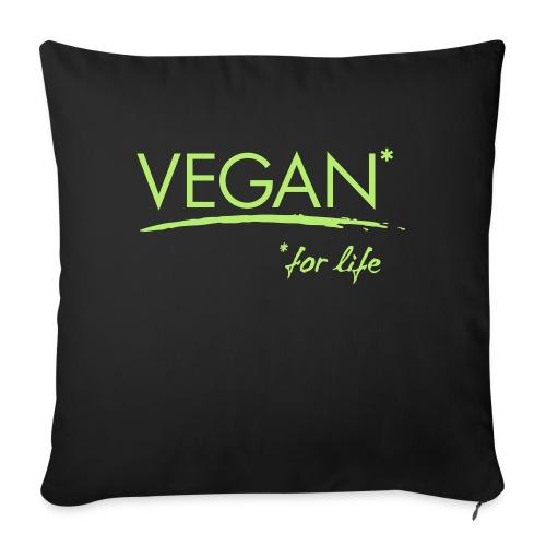 vegan for life 1c - Sofakissen mit Füllung 44 x 44 cm