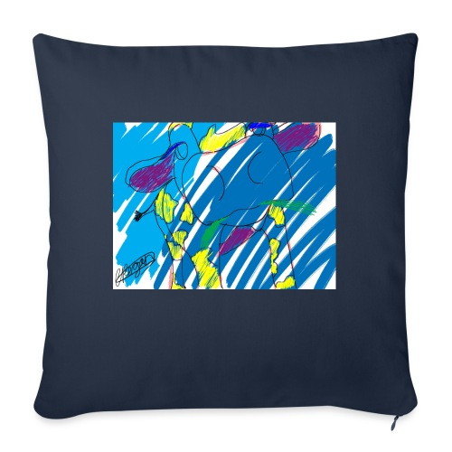 Signed Rainbow Cow - Sofa pillow with filling 45cm x 45cm