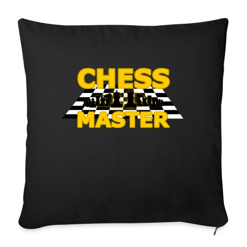 Chess Master - Black Version - By SBDesigns - Sofa pillow with filling 45cm x 45cm