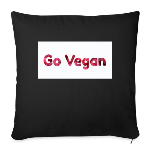 Go Vegan - motif Framboises - Coussin et housse de 45 x 45 cm