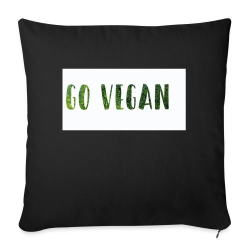 Go Vegan - motif Végé - Coussin et housse de 45 x 45 cm
