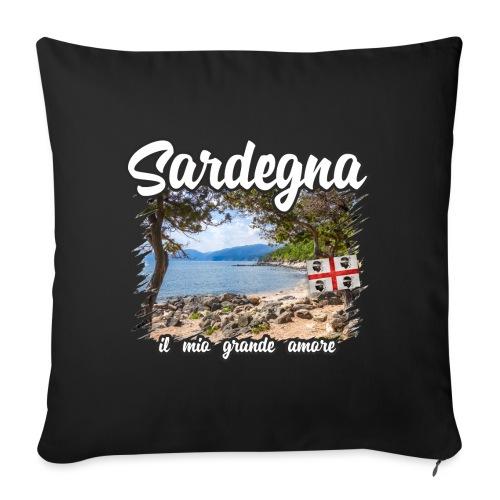 Sardinien Sardinia Sardegna Urlaub Shirt Geschenk - Sofakissen mit Füllung 44 x 44 cm