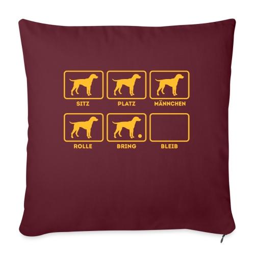Für alle Hundebesitzer mit Humor - Sofakissen mit Füllung 44 x 44 cm