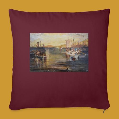 White Fishing - Mark Noble Art - Sofa pillow with filling 45cm x 45cm