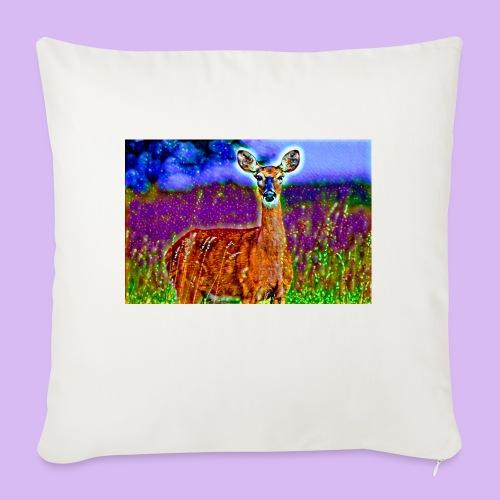 Cerbiatto con magici effetti - Cuscino da divano 44 x 44 cm con riempimento