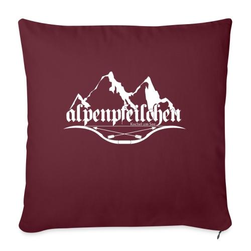 Alpenpfeilchen - Logo - white - Sofakissen mit Füllung 44 x 44 cm
