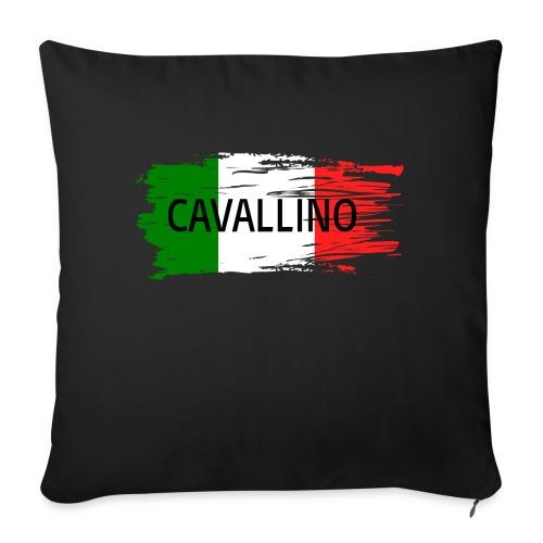 Cavallino auf Flagge - Sofakissen mit Füllung 44 x 44 cm