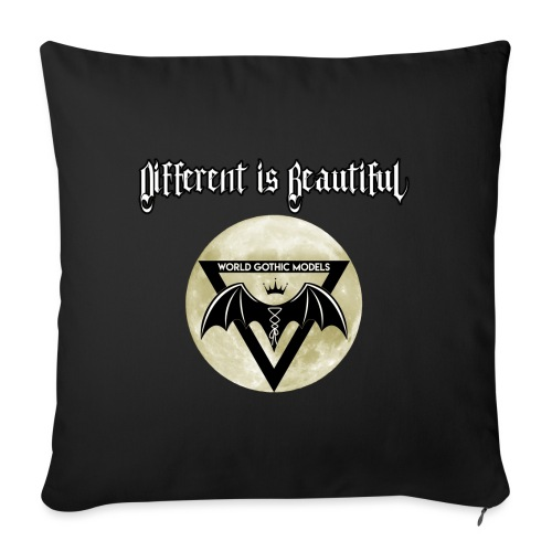 Different is Beautiful with Moon WGM Logo - Sofa pillow with filling 45cm x 45cm