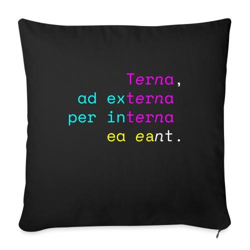 Terna Nigra - Cuscino da divano 44 x 44 cm con riempimento