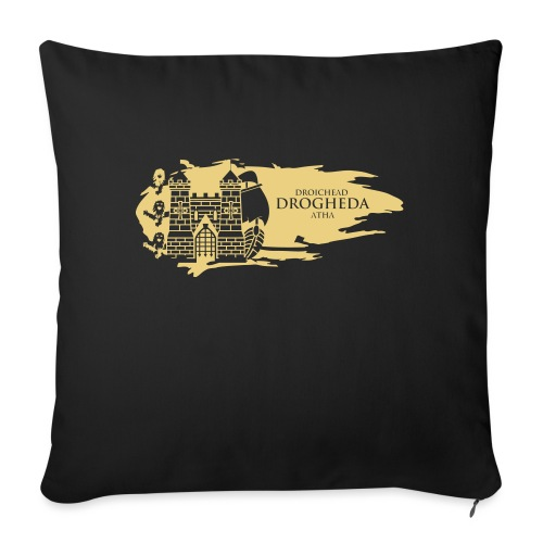 Drogheda Laurences Gate Gold - Sofa pillow with filling 45cm x 45cm
