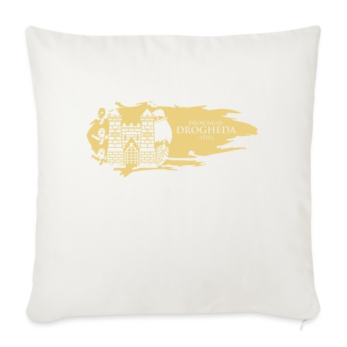 Drogheda Laurences Gate Gold - Sofa pillow with filling 45cm x 45cm