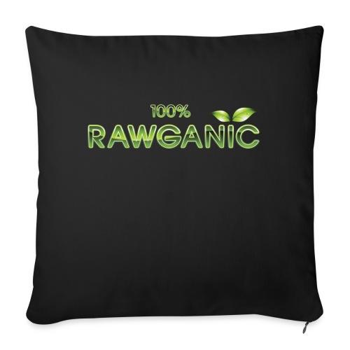 100% Rawganic Rohkost Blättchen - Sofakissen mit Füllung 44 x 44 cm