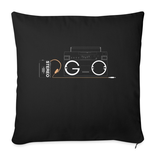 Design S2G new logo - Sofa pillow with filling 45cm x 45cm