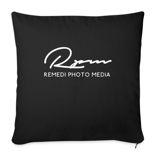 RPM 2018 script with text - White - Sofa pillow with filling 45cm x 45cm