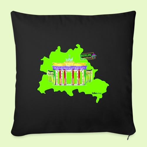 Berlin ist grün und bunt / BerlinLightShow - Sofakissen mit Füllung 44 x 44 cm