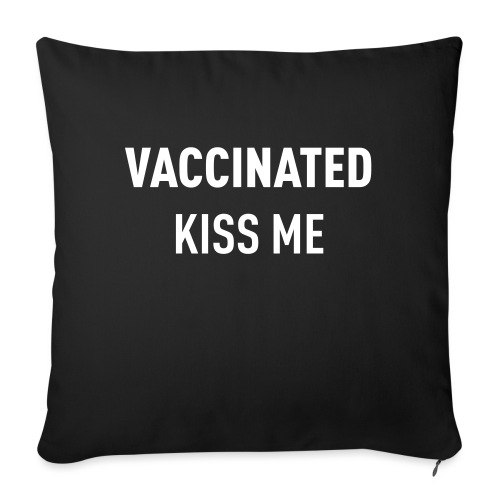Vaccinated Kiss me - Sofa pillow with filling 45cm x 45cm