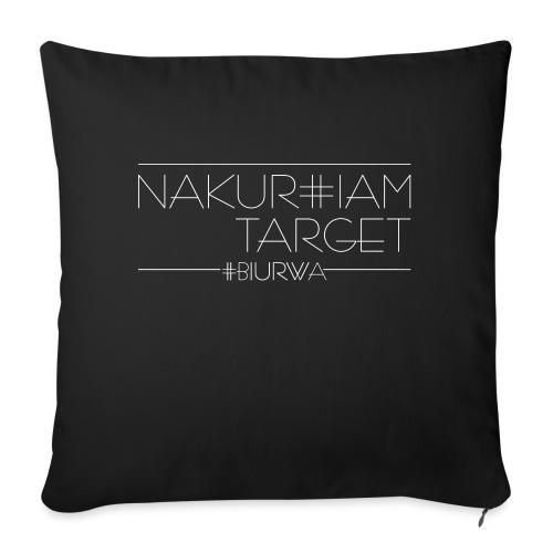 Nakurwiam Target - BLACK - Poduszka na kanapę z wkładem 44 x 44 cm