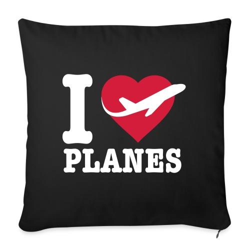 Uwielbiam samoloty - białe - Poduszka na kanapę z wkładem 44 x 44 cm