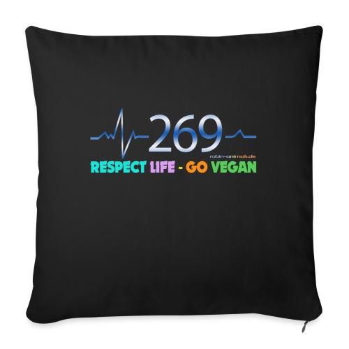 269 RESPECT LIFE - Sofakissen mit Füllung 44 x 44 cm