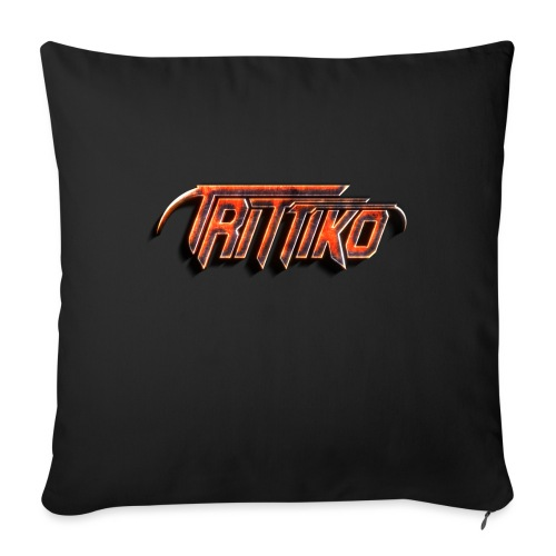Trittiko Logo Rot 3D - Sofakissen mit Füllung 44 x 44 cm