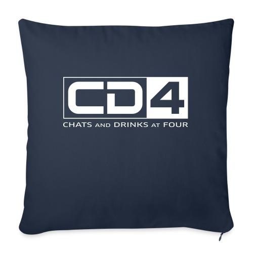 cd4 logo dikker kader bold font - Bankkussen met vulling 44 x 44 cm