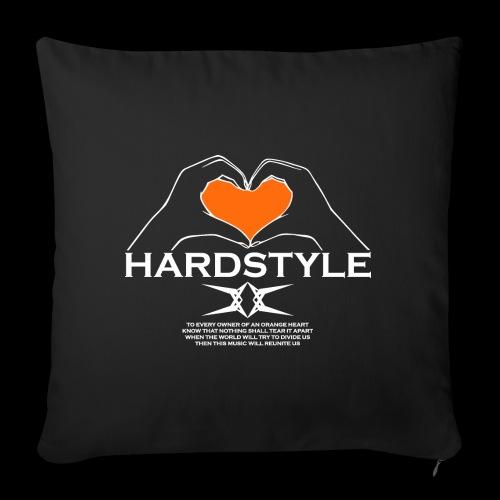 Hardstyle = My Style - Owner Of An Orange Heart - Bankkussen met vulling 44 x 44 cm
