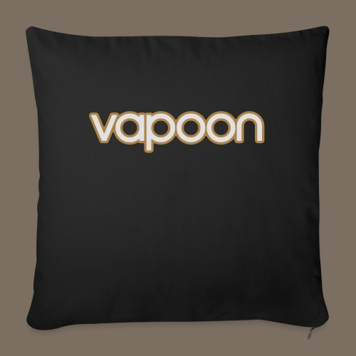 Vapoon Logo simpel 2 Farb - Sofakissen mit Füllung 44 x 44 cm