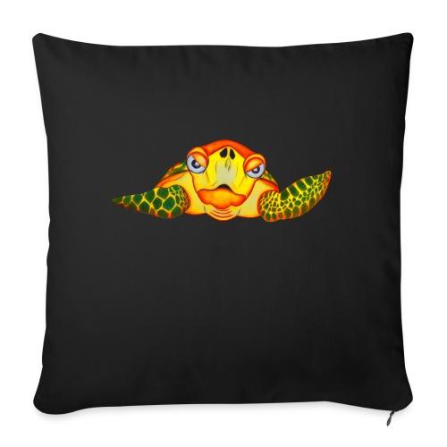 Angry Turtle Fluo - Coussin et housse de 45 x 45 cm