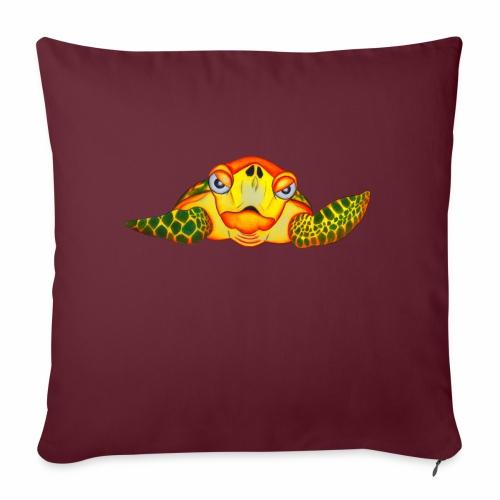 Boze Turtle Fluo - Bankkussen met vulling 44 x 44 cm