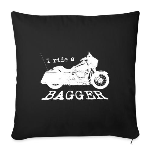 I ride a bagger - hvid - Sofapude med fyld 44 x 44 cm