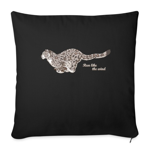 Snow Leopard: Run Like the Wind - Poduszka na kanapę z wkładem 44 x 44 cm